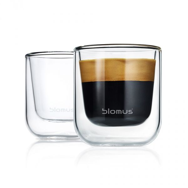 Blomus NERO Szklanki Termiczne do Espresso 80 ml