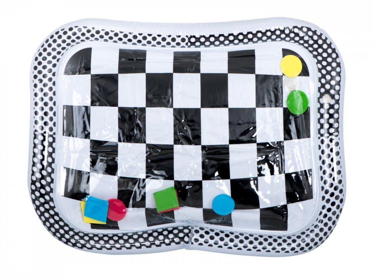 Mata wodna nadmuchiwana czarno-biała szachownica 65cm x 50cm