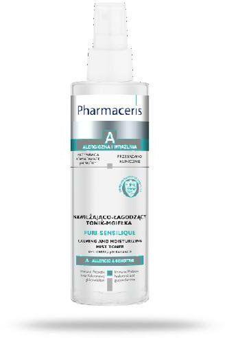 Pharmaceris A nawilżająco-łagodzący tonik-mgiełka 200 ml + Hydro-żelowa maska nawilżająca 1 sztuka