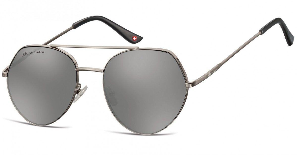 Okulary Przeciwsłoneczne Lustrzane Pilotki Montana MS83