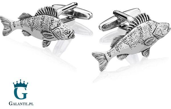 Spinki do mankietów x2 ryba okoń