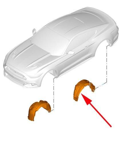 nadkole plastikowe Ford Mustang - oryginał  5308439