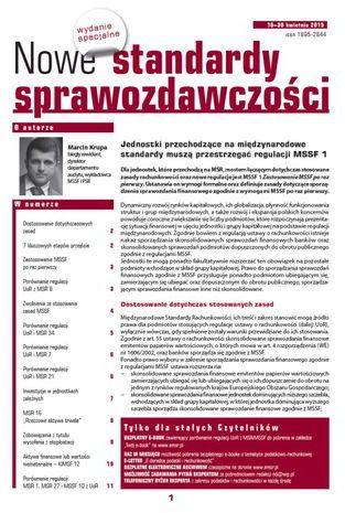 Nowe Standardy Sprawozdawczości, wydanie specjalne: Jednostki przechodzące na międzynarodowe standardy muszą przestrzegać regulacji MSSF 1 - Ebook.