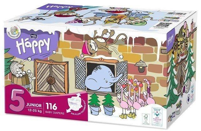 Bella Happy Rozmiar 5 Box, 116 pieluszek, 12-25 kg