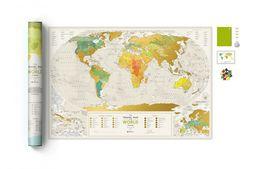 Mapa zdrapka Świat. Travel Map Geography World ZAKŁADKA DO KSIĄŻEK GRATIS DO KAŻDEGO ZAMÓWIENIA