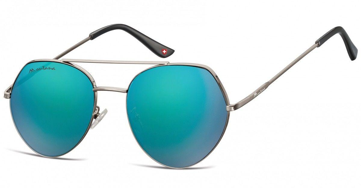 Okulary Przeciwsłoneczne Lustrzane Pilotki Montana MS83A