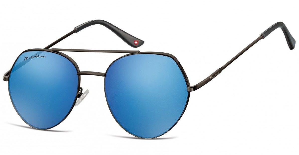 Okulary Przeciwsłoneczne Lustrzane Pilotki Montana MS83B
