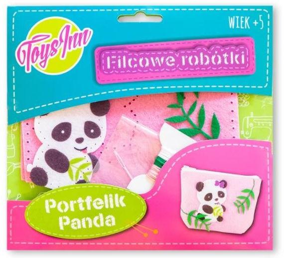Filcowe robótki portfelik panda różowy