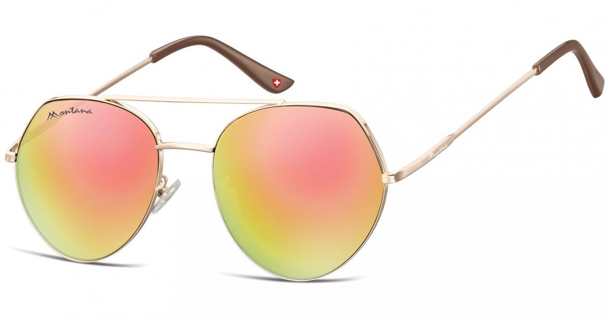 Okulary Przeciwsłoneczne Lustrzane Pilotki Montana MS83D