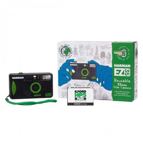 Aparat wielokrotnego użytku Harman EZ-35 + 1 film HP5+