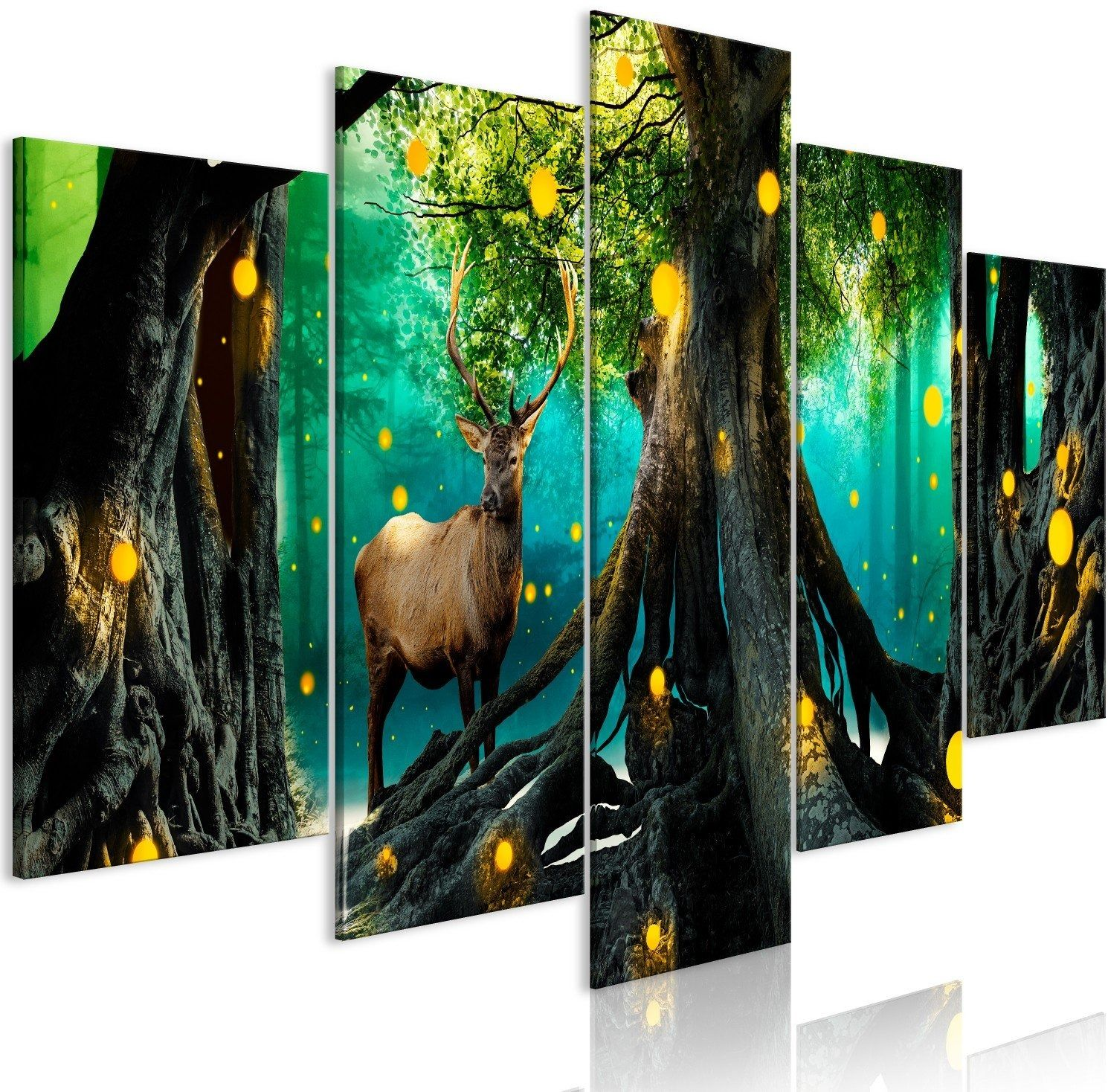 Obraz - zaklęty las (5-częściowy) szeroki