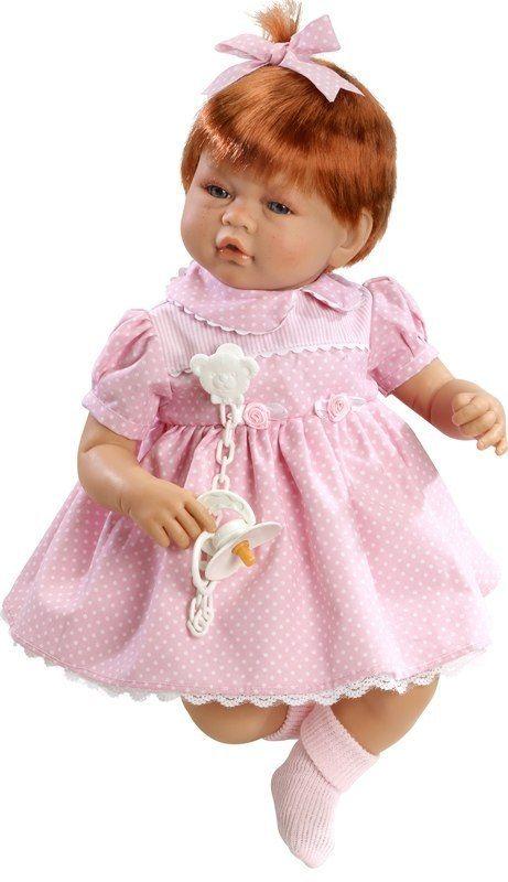 Lalka hiszpańska dziewczynka Vera z rudymi włoskami - 46 cm