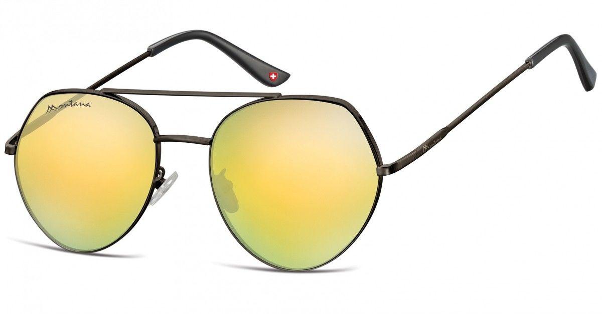 Okulary Przeciwsłoneczne Lustrzane Pilotki Montana MS83E