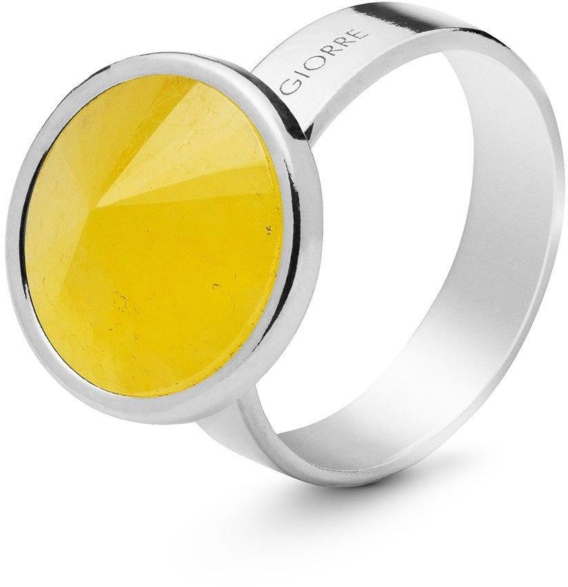 Srebrny pierścionek kamień naturalny chalcedon, srebro 925 : Kamienie naturalne - kolor - chalcedon żółty , ROZMIAR PIERŚCIONKA - 11 UK:L 16,00 MM, Srebro - kolor pokrycia - Pokrycie platyną