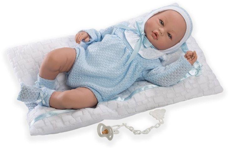 Hiszpańska lalka bobas Iker z materacykiem - 46 cm
