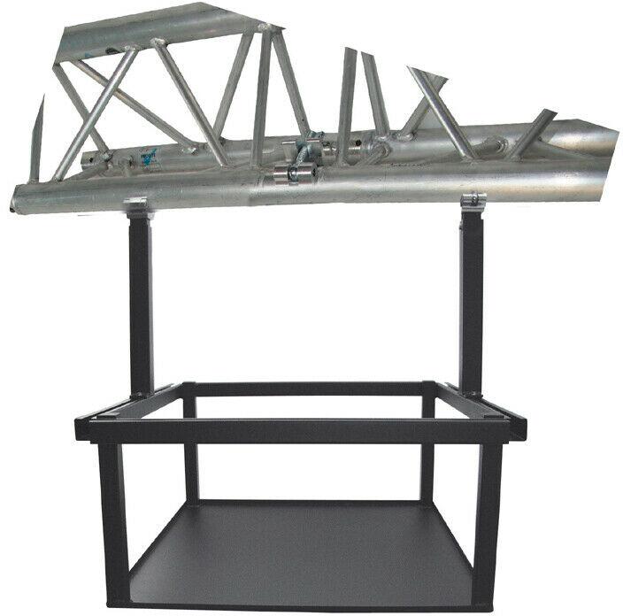 PeTa rama do dużych projektorów, ruchoma 40-70cm, ze złączem osiowym, czarna