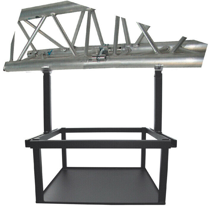 PeTa rama do dużych projektorów, ruchoma 40-70cm, ze złączem osiowym, srebrna