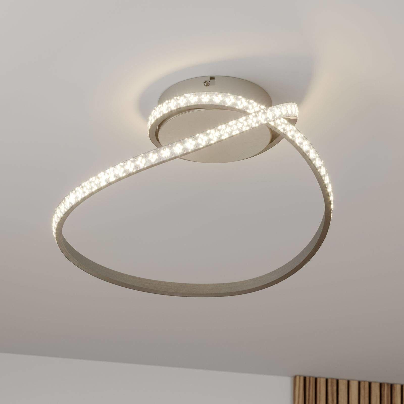 Lindby Criostal lampa sufitowa LED ze zmianą barw