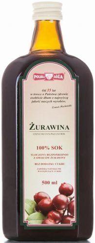 Sok z Owoców Żurawiny 500ml - Polska Róża