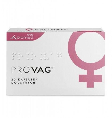 PROVAG - kapsułki doustne 20 szt. Długotrwała ochrona zdrowia intymnego.