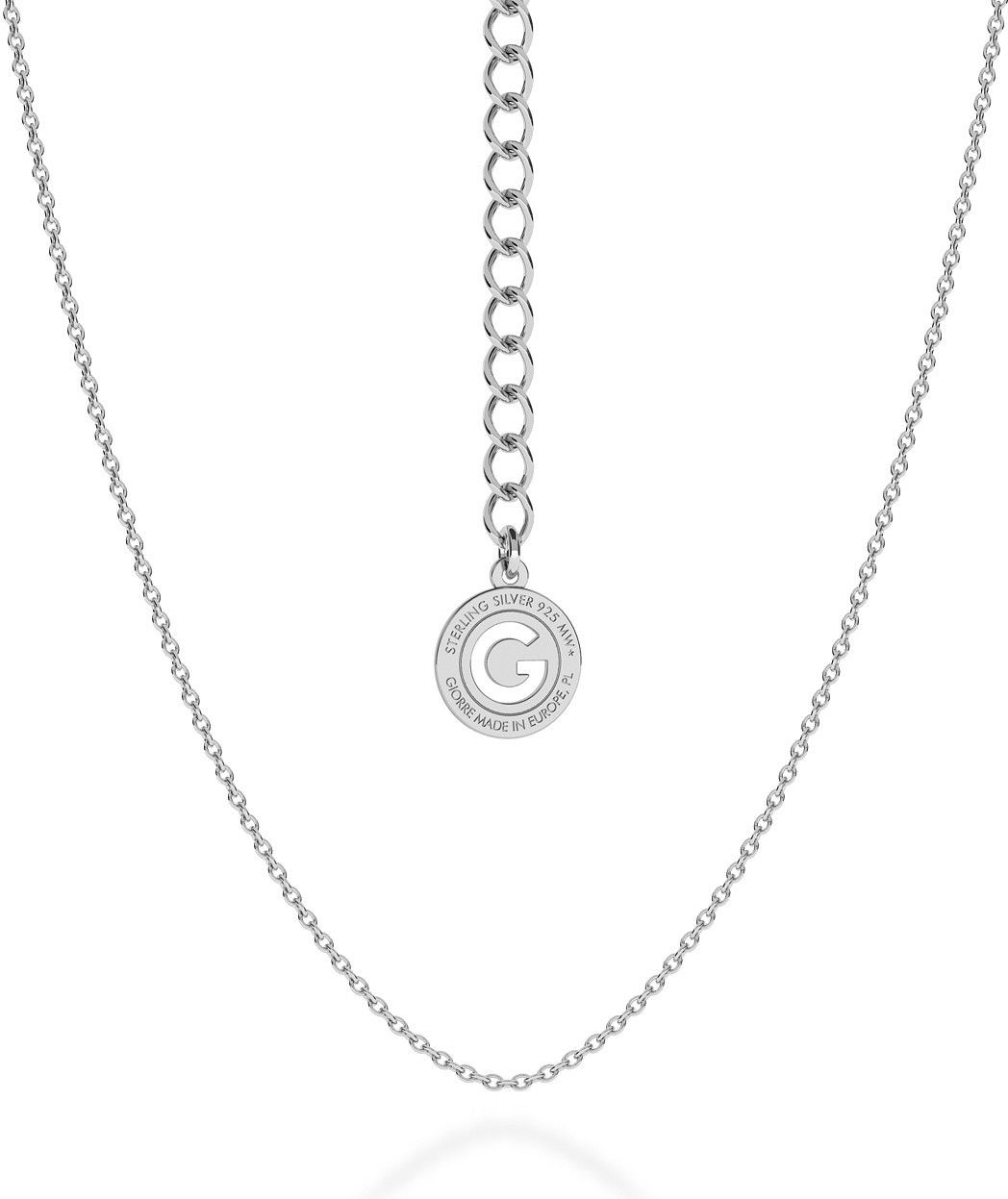 Srebrny delikatny łańcuszek ankier, srebro 925 : Długość (cm) - 50 + 5, Srebro - kolor pokrycia - Pokrycie żółtym 18K złotem
