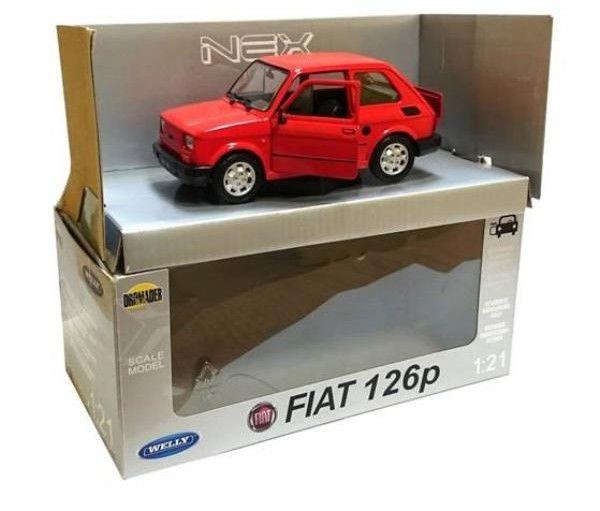 Model Samochodu Auto Pojazd Fiat 126 P Maluch 1:21 Licencjonowany Produkt