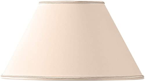 Klosz lampy w kształcie wiktoriańskim, 20 x 09 x 12 cm, beżowy/różowy