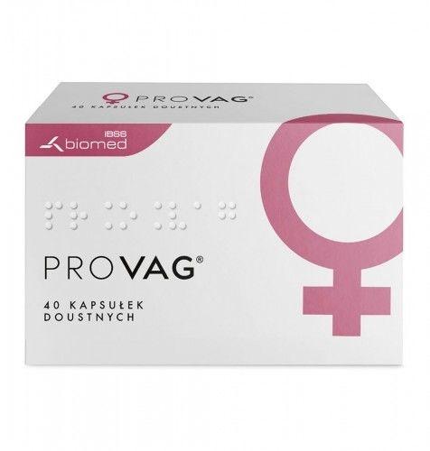 PROVAG - kapsułki doustne 40 szt. Długotrwała ochrona zdrowia intymnego.