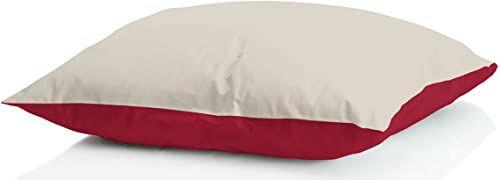 """MB HOME BASIC 2 poduszki zimowe""""Iceland"""", bordowe/kremowe, 50 x 80 cm"""