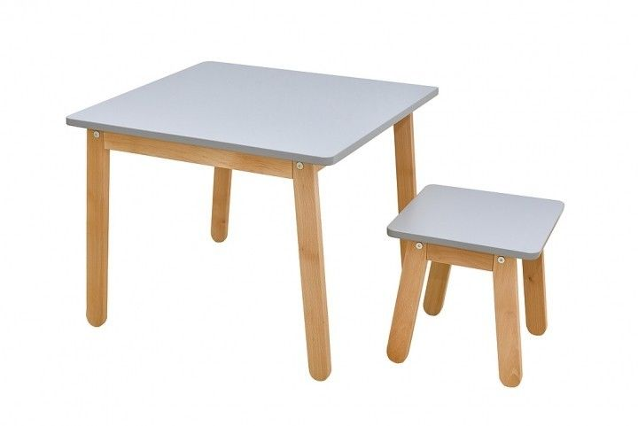 Woody table&stool gray Woody stolik krzesełko KOLOR GRAY Bellamy