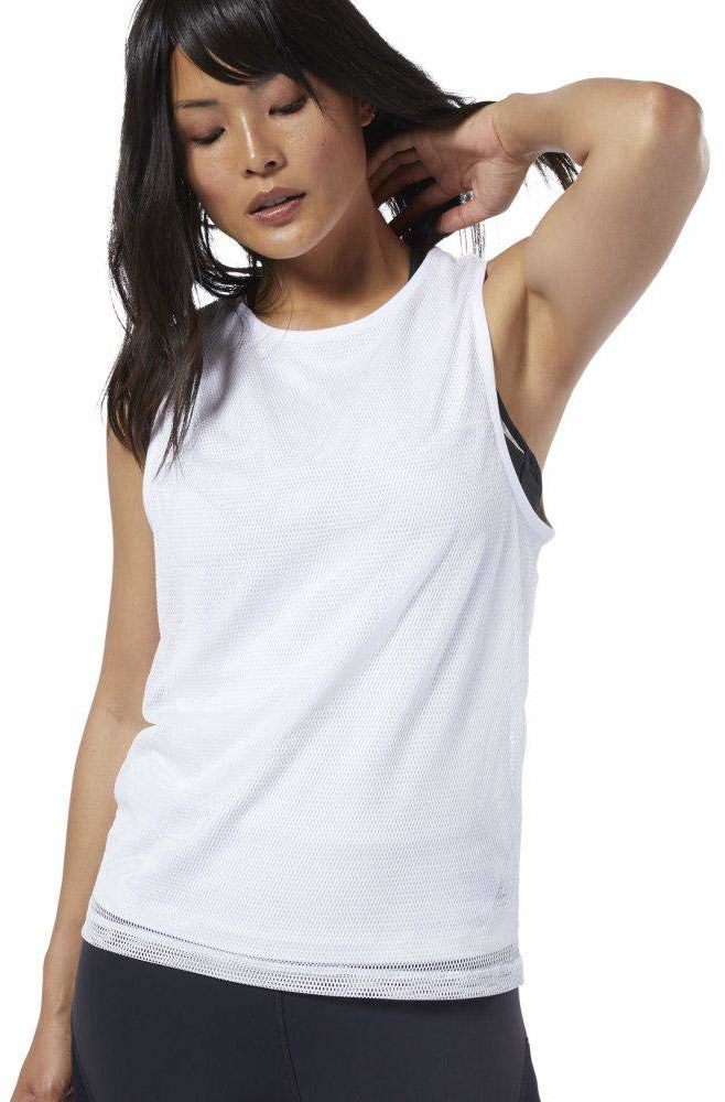 Reebok Damska koszulka C Performance Tank bez rękawów biały biały XXS