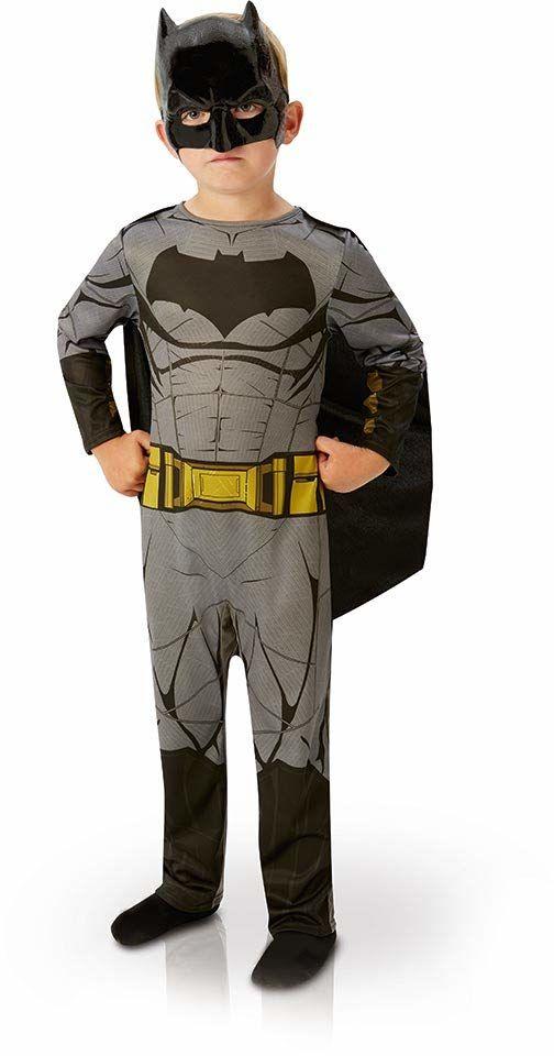 Rubie''s Oficjalny kostium Ligi Sprawiedliwości Batman, dziecięcy - duży wiek 7-8 lat, wysokość 128 cm