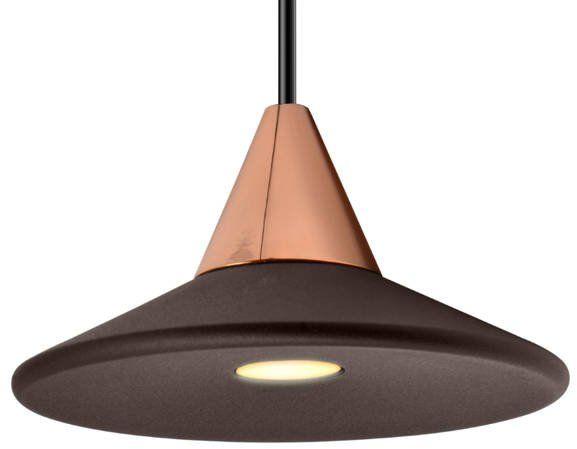 Lampa wisząca nowoczesna TINO 7W ciepła 3000K śr. 9,2cm beżowy/różowe złoto