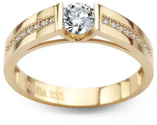 Złoty pierścionek PXC5212 - Cyrkonia
