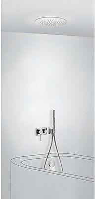 3V Tres podtynkowy zestaw wannowo natryskowy z napełnianiem przez przelew chrom - 210.273.10