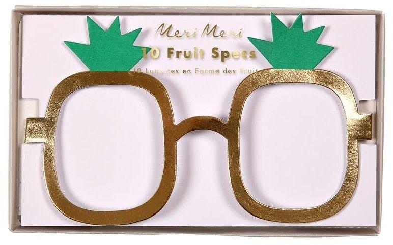 Okulary Papierowe Owoce