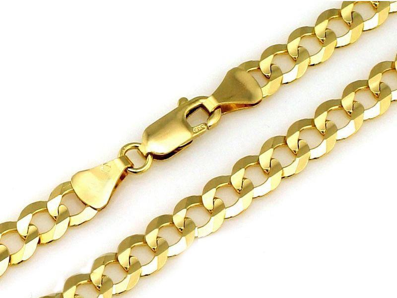 Złoty łańcuszek 333 splot pancerka 55 cm 9,10 g