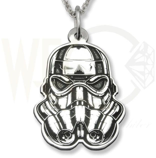 Wisiorek z łańcuszkiem ze srebra kosmiczny żołnierz-1-zest