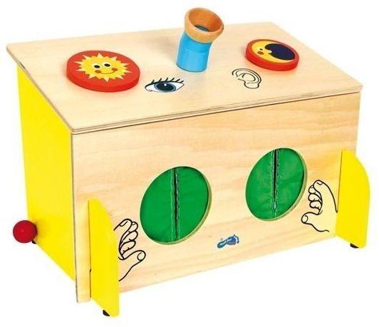 Pudełko zgadywanka, 6989-Small Foot Design, zabawki edukacyjne, z drewna