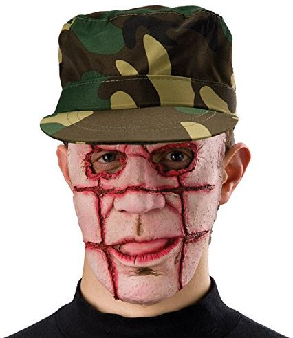 Carnival Toys 1019 - maska Horror, lateks, brązowa