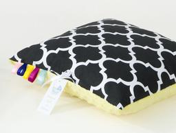 MAMO-TATO Poduszka Minky dwustronna 40x40 Maroko czarne / żółty