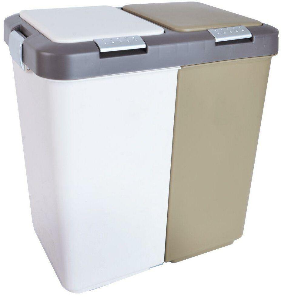 Kosz na odpady / śmieci duo do segregacji 2x10L