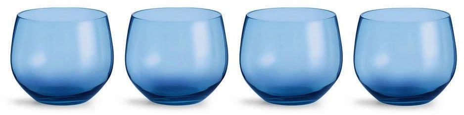 Sagaform - interiör - szklanki spectra - 4 szt. - 350 ml - niebieskie