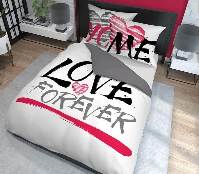 Pościel 220x200 bawełniana Komplet Holenderska Love forever
