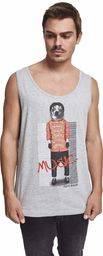 MERCHCODE Męska spódnica Pop Tanktop T-shirt, heather grey, S
