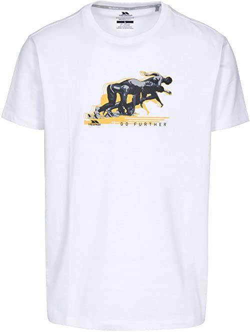 Trespass Męski T-shirt z krótkim rękawem, biały, S