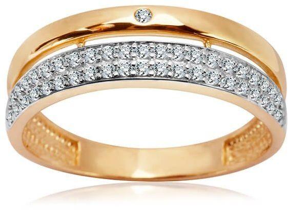 Złoty pierścionek PZC4708 - Cyrkonia