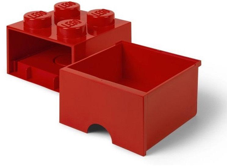 Szuflada klocek LEGO Brick 4 Czerwony 40051730