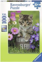 Ravensburger Puzzle  10847  kotki pod kwiatami  100 sztuk
