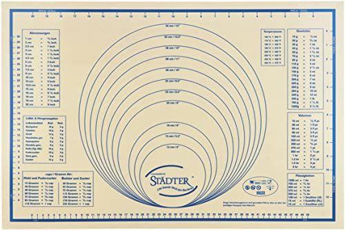 Städter Maxi 256972 silikonowa mata do toczenia ciasta/kształtowania/pieczenia w opakowaniu upominkowym